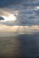 Greece, Ionian Sea, Ithaca, Thunder clouds over the sea