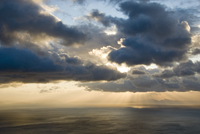 Greece, Ionian Sea, Ithaca, Thunder clouds