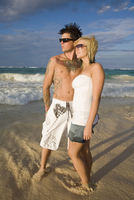 Dominican Republic, Young couple on beach