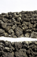 Spain, Lanzarote, Wall from volcanite, close up