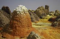 Ethiopia, Danakil Desert, Lake Assal, Hornitos