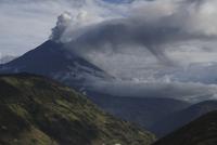 Ecuador, Tungurahua, Volcano eruption