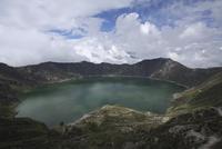 Ecuador, Quilotoa, Crater lake