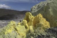 Galapagos Islands, Isabela, Volcano Sierra Negra, Sulfuric rocks