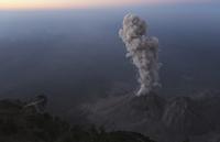 Guatemala, Santiaguito volcano, Ash eruption