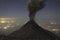 Guatemala, Fuego volcano, Ash eruption