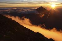 Guatemala, Acatenango volcano with sunrise