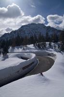 Italy, Passo di Pramollo, Borderland, mountain road