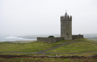 Ireland, Doonagore Castle on a hill