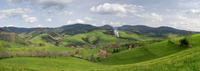 Germany,Baden-W??rttemberg,Oberharmersbach,hilly landscape