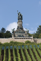 Europe, Germany, Hesse, View of niederwalddenkmal memorial