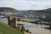 Europe, Germany, Hesse, View of burg ehrenfels and mouse tower