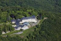 Europe, Germany, North Rhine-Westphalia, Siebengebirge, Aerial view of grand hotel Petersberg