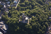 Europe, Germany, North Rhine-Westphalia, Bad Godesberg, Aerial view of Castle Godesburg