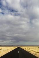 Africa, Namibia, Namib Desert, View of road passing through Namib-Naukluft National Park