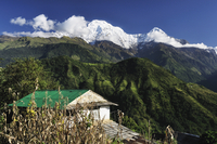 Asia, Nepal, Western Region, View of annapurna conservation area
