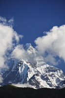 Asia, Nepal, Western Region, View of machapuchare mountain