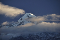 Asia, Nepal, Western Region, View of hiunchuli mountain