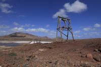 Africa, Cape Verde, Sal, View of saltworks of pedra de lume
