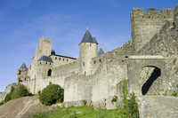 France, Aude, View of Carcassonne castle