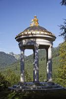Germany, Upper Bavaria, View of temple of venus in linderhof palace garden