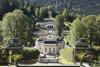 Germany, Upper Bavaria, View of  linderhof palace