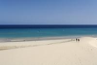 Spain, Canary Islands, Fuerteventura, Jandia, View of sotavento beach