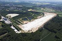 Europe, Germany, North Rhine-Westphalia, Frechen, Aerial view of quartz mining