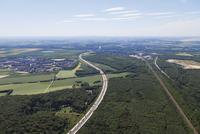 Europe, Germany, North Rhine-Westphalia, Cologne, Eifel, Aerial view of motorway A4