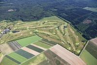 Europe, Germany, North Rhine Westfalia, Roemerhof Bornheim, Aerial view of golf course