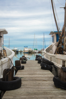 USA, Texas, Rockport-Fulton, Fishing boats at Gulf of Mexico