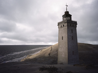 Denmark, Lighthouse on Rubjerg Knude between Lokken and Lonstrup