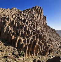 Algeria, View of Hoggar Mountains at Atakor