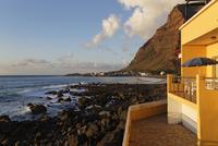Spain, La Gomera, View of house at La Puntilla