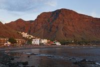 Spain, La Gomera, View of La Playa and La Calera
