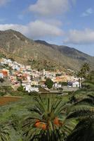 Spain, La Gomera, View of Vallehermoso