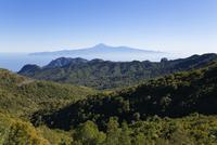 Spain, La Gomera, View of Garajonay National Park and Tenerife in background