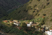 Spain, La Gomera,  View of Tamargada near Vallehermoso