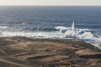 Spain, Las Palmas, Gran Canaria, Punta del Confital, View of Atlantic Coast