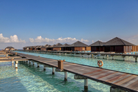 Asia, Water bungalows of Paradise Island