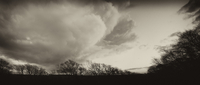 France, View of landscape with storm clouds