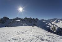 Austria, Innsbruck, View of Olympic ski piste