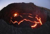 Ethiopia, View of lava at Erta Ale
