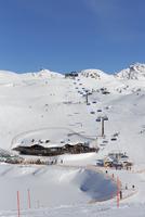 Austria, Salzburg, Hochalmbahn chairlift at Radstadt Tauern mountain
