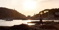 Spain, Mallorca, View of boy at Port de Soller