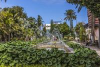 Spain, Gran Canaria, View of fountain in garden