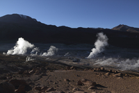 Chile, View of Tatio Geyser field