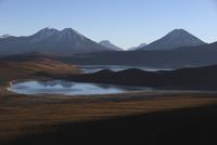 Chile, View of Laguna Miscanti and Minique