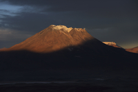 Chile, View of Ollague volcano