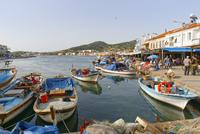Turkey, View of K??c??kdeniz bay in Foca